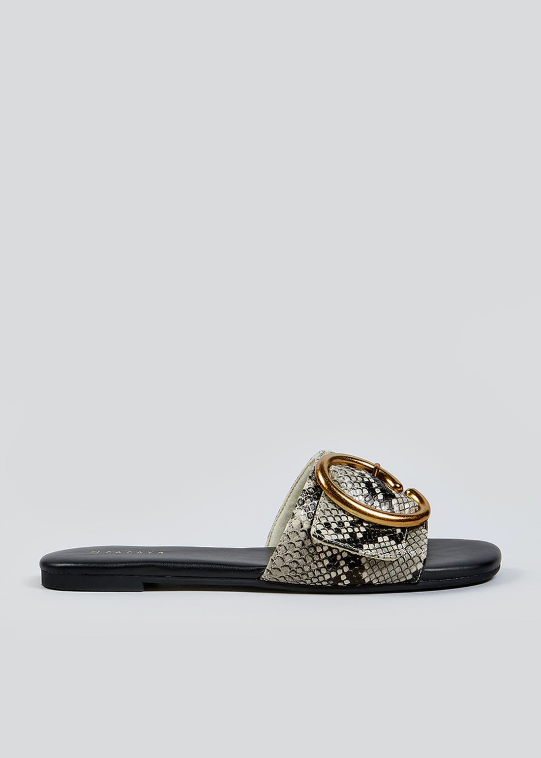 Wide Fit Snake Print Mules