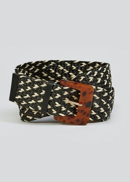 Wide Tortoiseshell Buckle Belt