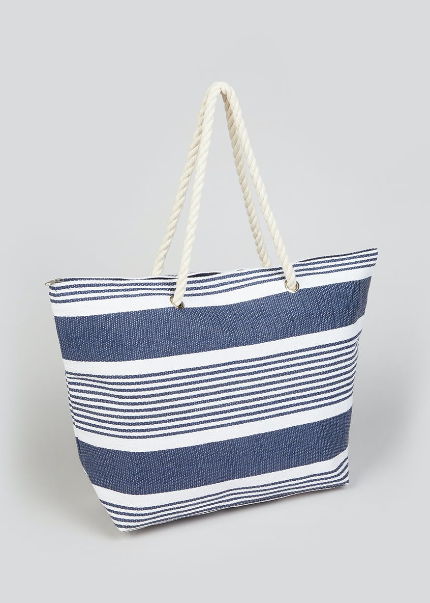Nautical Stripe Beach Bag