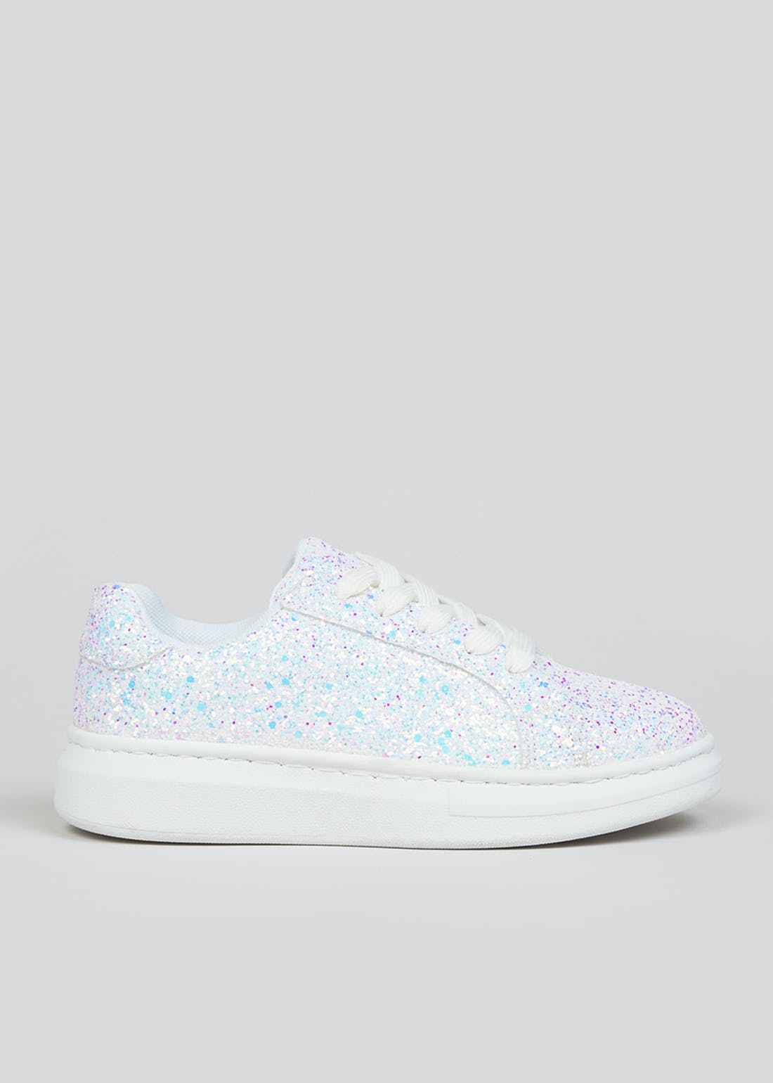 Girls White Platform Trainers (Younger 10-Older 5)