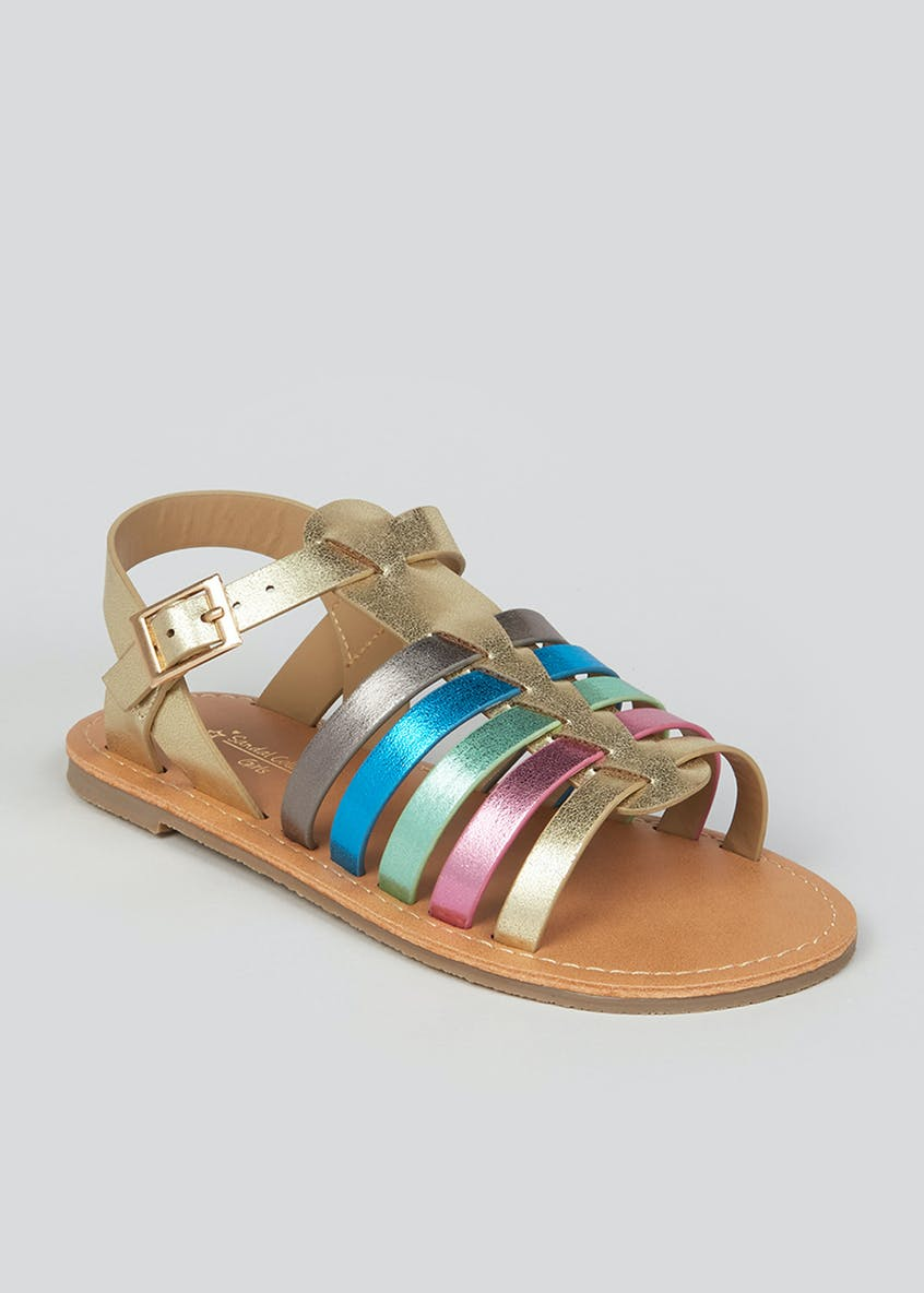 Girls Rainbow Gladiator Sandals (Younger 10-Older 5)