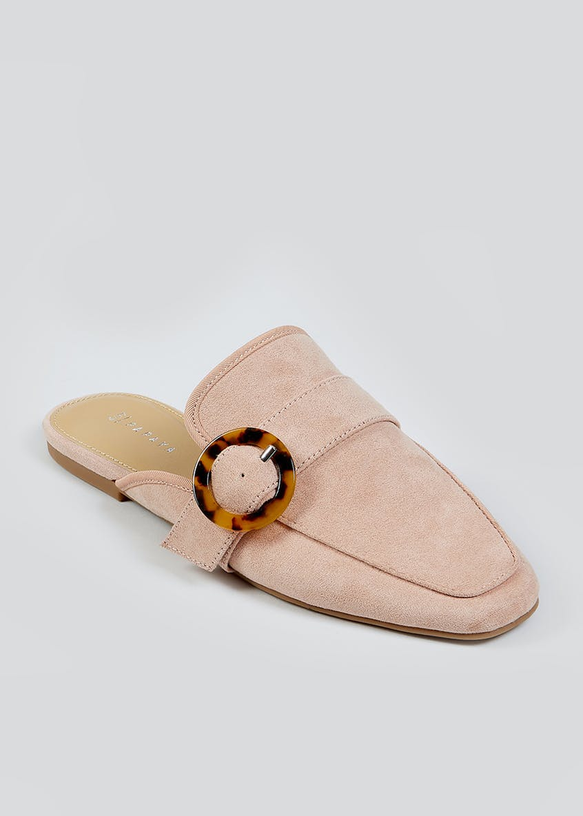 Blush Backless Mule Loafers