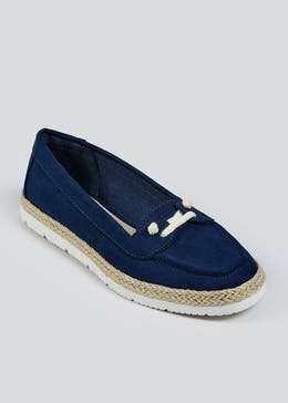 Soleflex Navy Jute Loafers