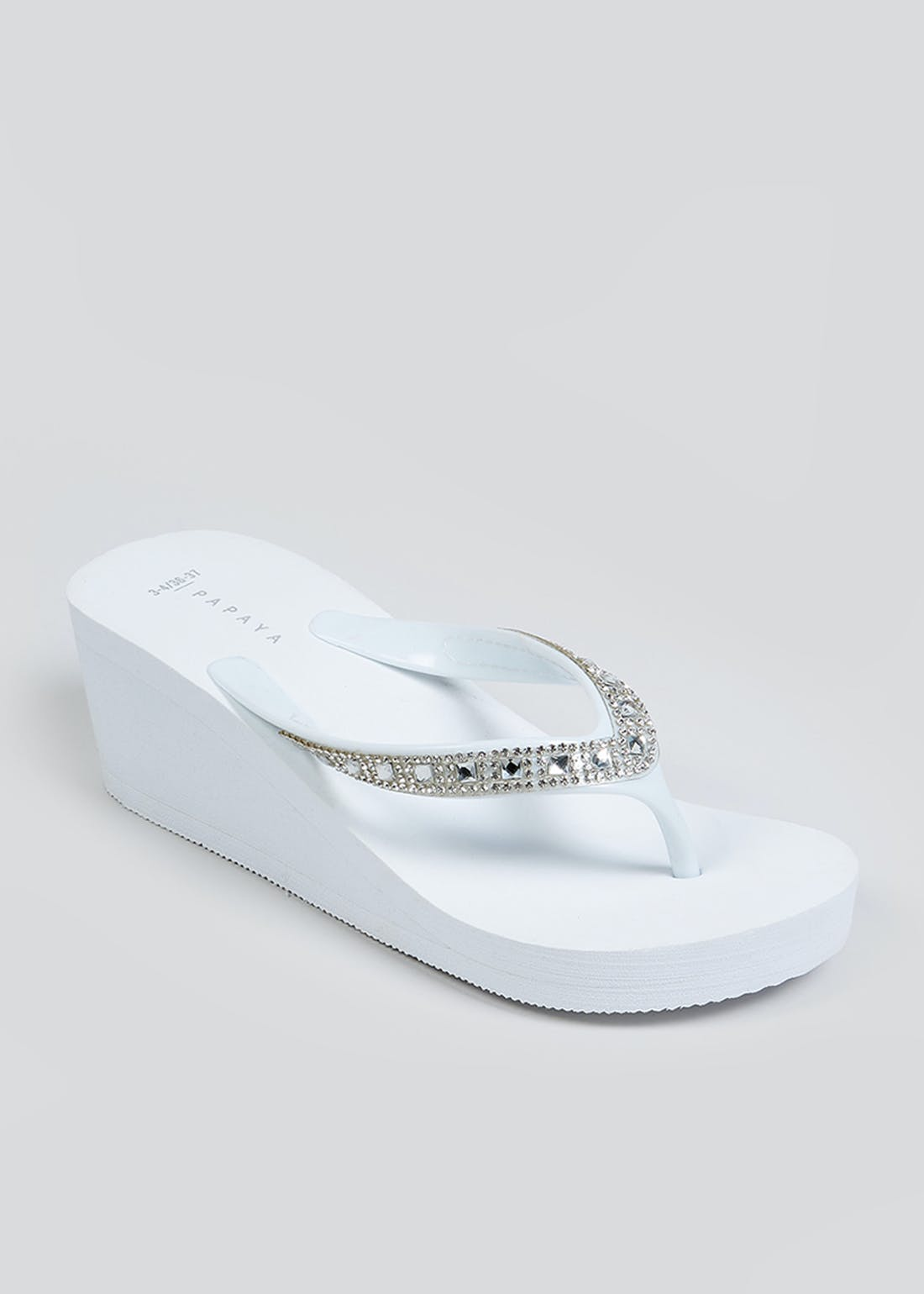 White Wedge Flip Flops