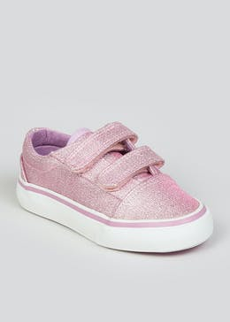 Girls Lilac Riptape Strap Trainers (Younger 4-9)