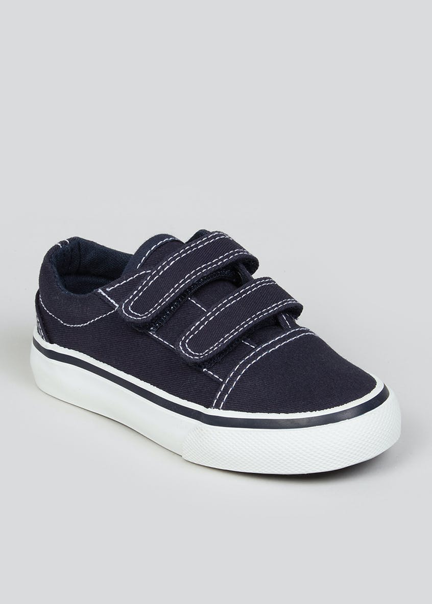 Boys Navy Denim Trainers (Younger 4-12)