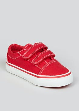 Kids Red Denim Trainers (Younger 4-12)