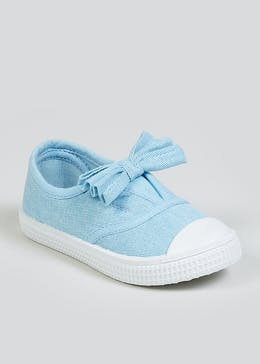 Girls Blue Bow Pumps (Younger 4-12)