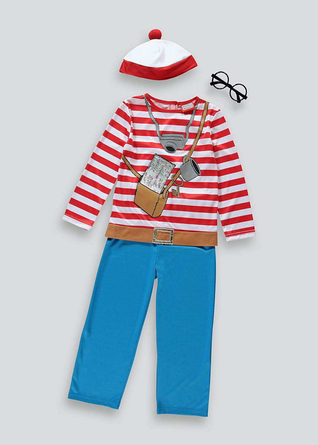 Kids Where's Wally Fancy Dress Costume (4-9yrs)