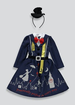 Kids Mary Poppins Fancy Dress Costume (3-9yrs)