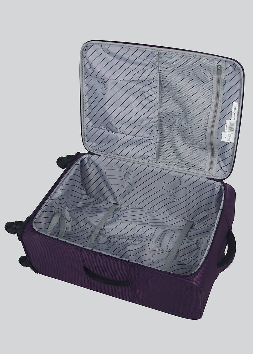 IT Luggage Embossed Cube Soft Suitcase