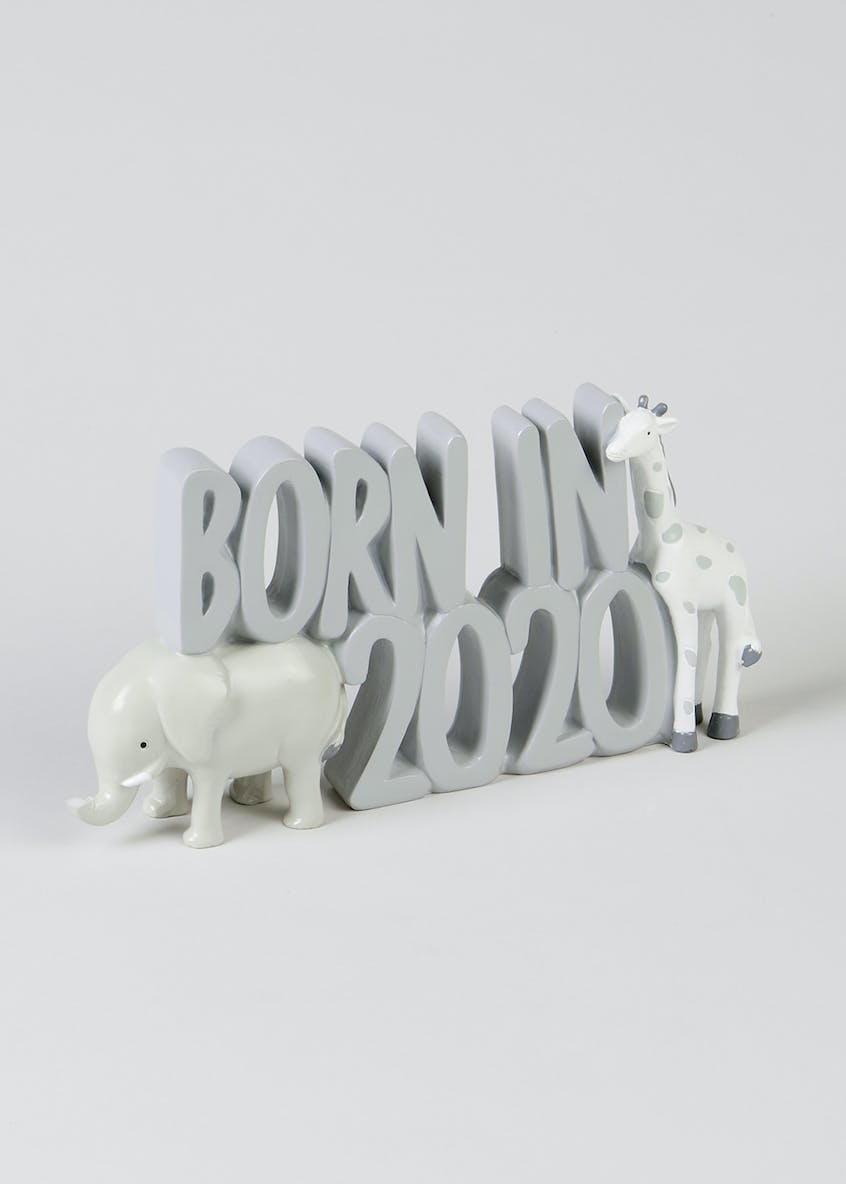 Born in 2020 Word Block (26.5cm x 13.5cm x 4.5cm)
