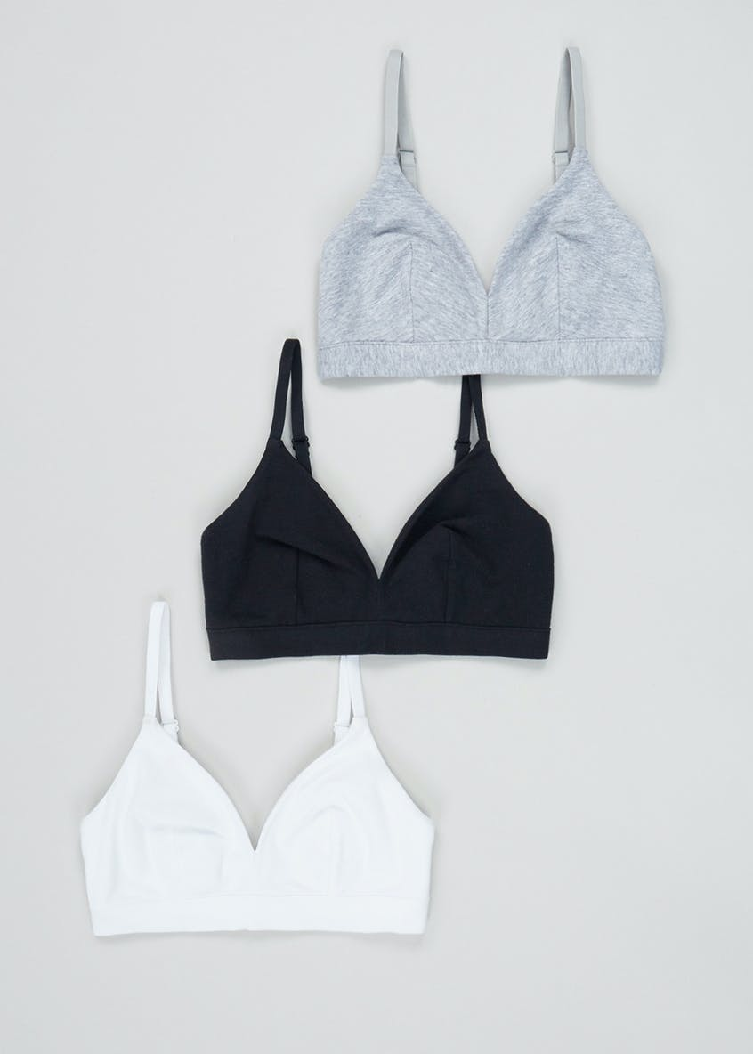 3 Pack Non Wired Bralettes