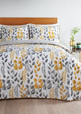 Reversible Blossom Leaf Duvet Cover