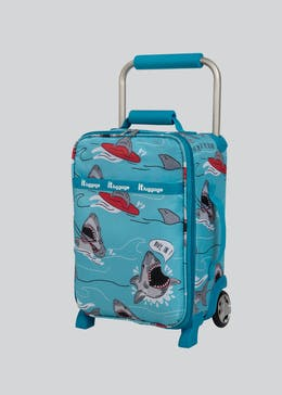 Kids IT Luggage Shark Print Cabin Suitcase