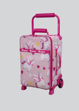 Kids IT Luggage Unicorn Print Cabin Suitcase