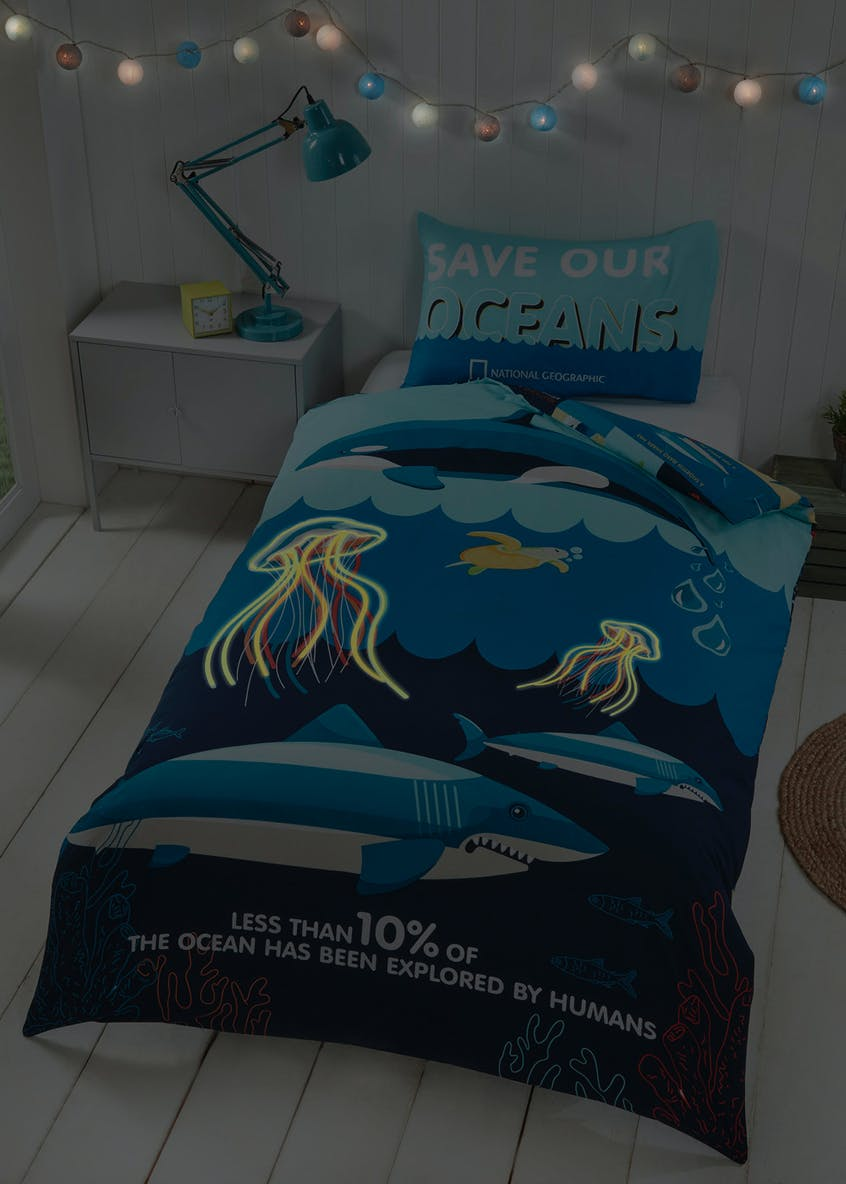 Kids National Geographic Save Our Oceans Duvet Cover (Single)