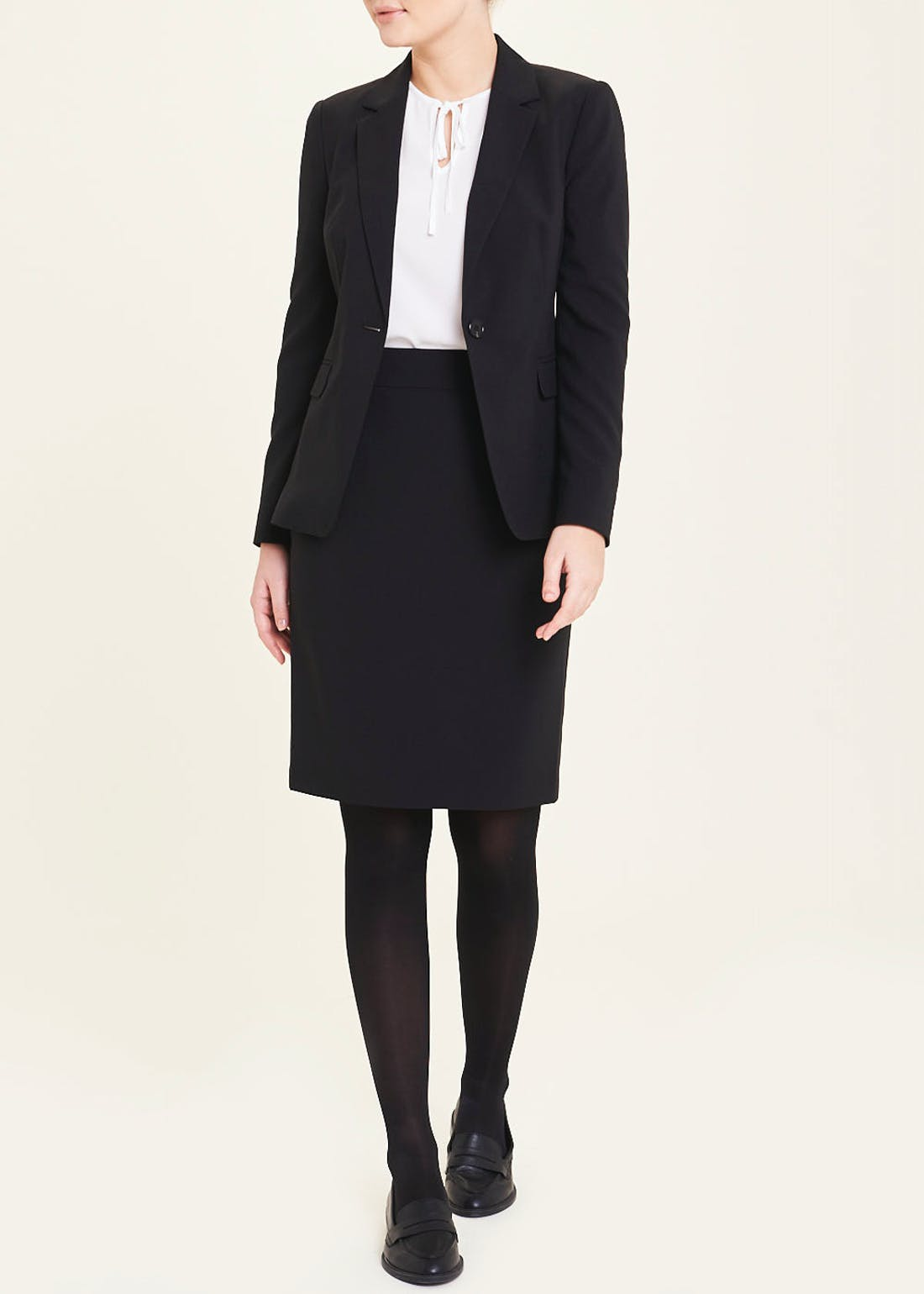 Black Bi-Stretch Suit Jacket