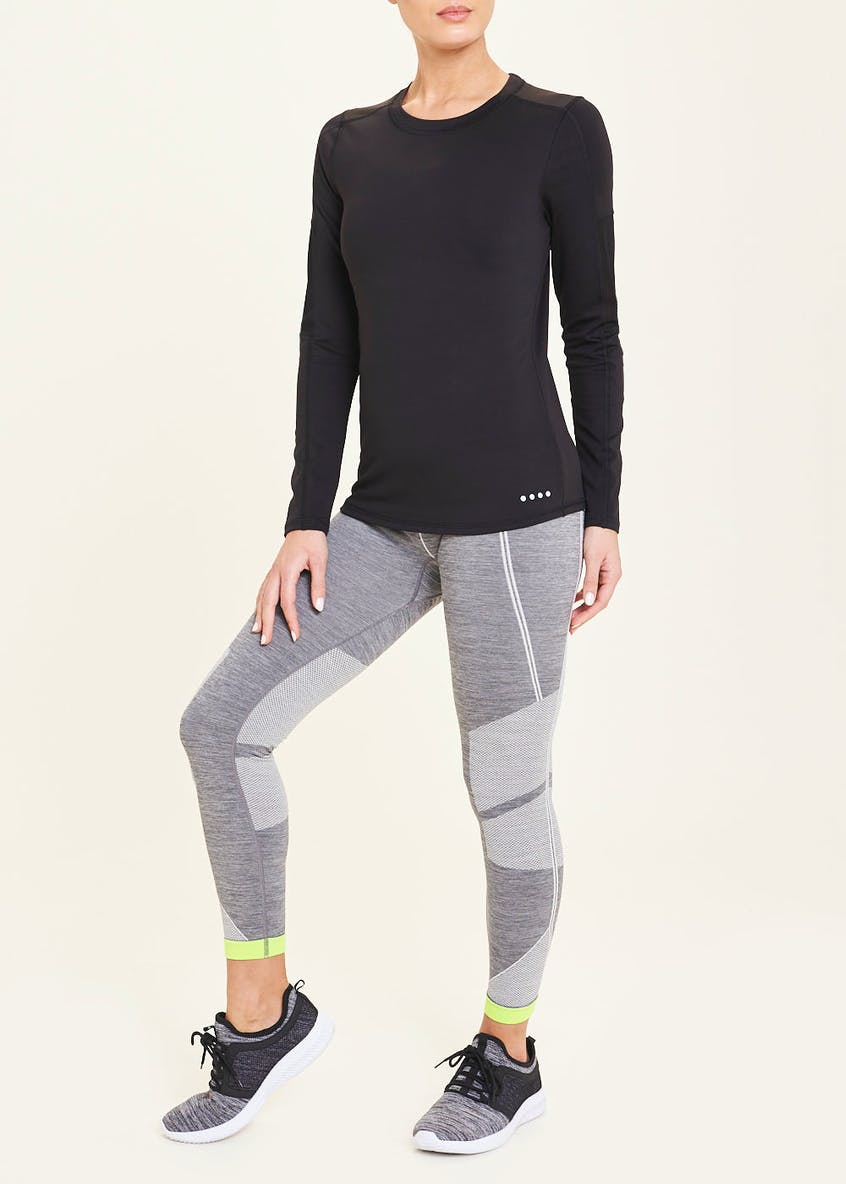 Souluxe Black Long Sleeve Gym Top
