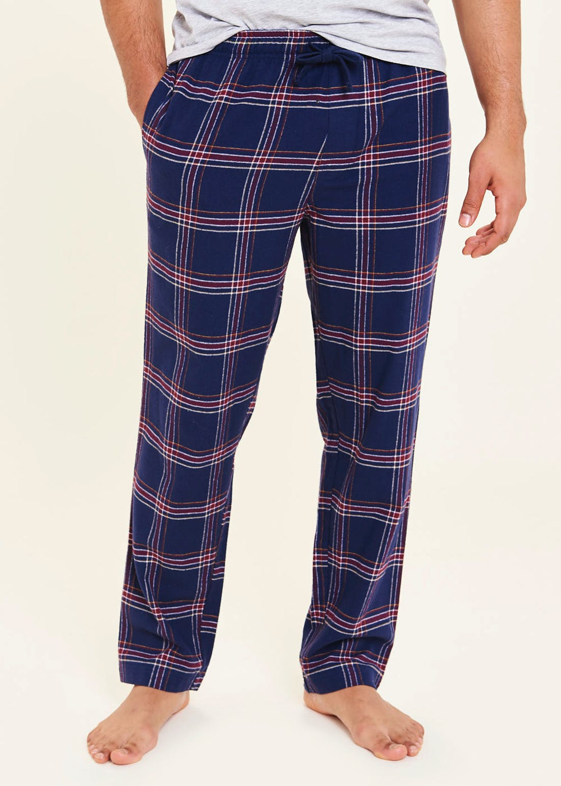 Brushed Cotton Check Lounge Bottoms