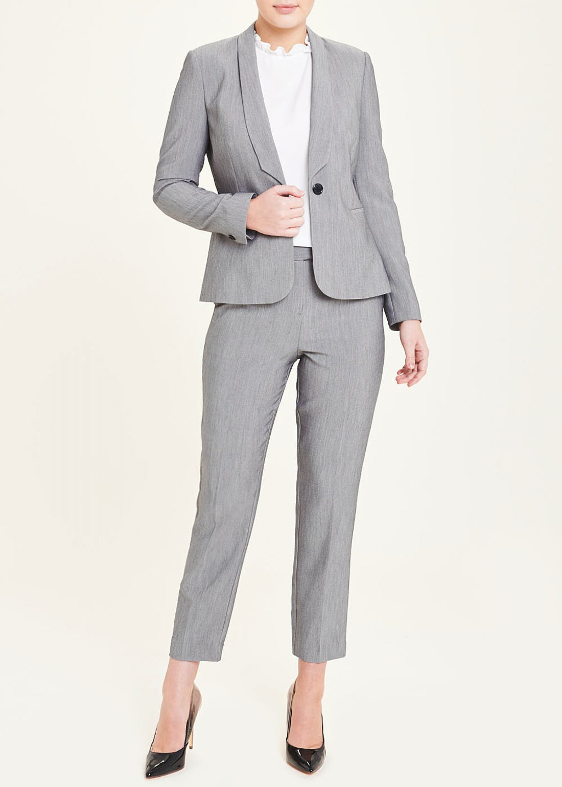 Grey Essential Suit Jacket