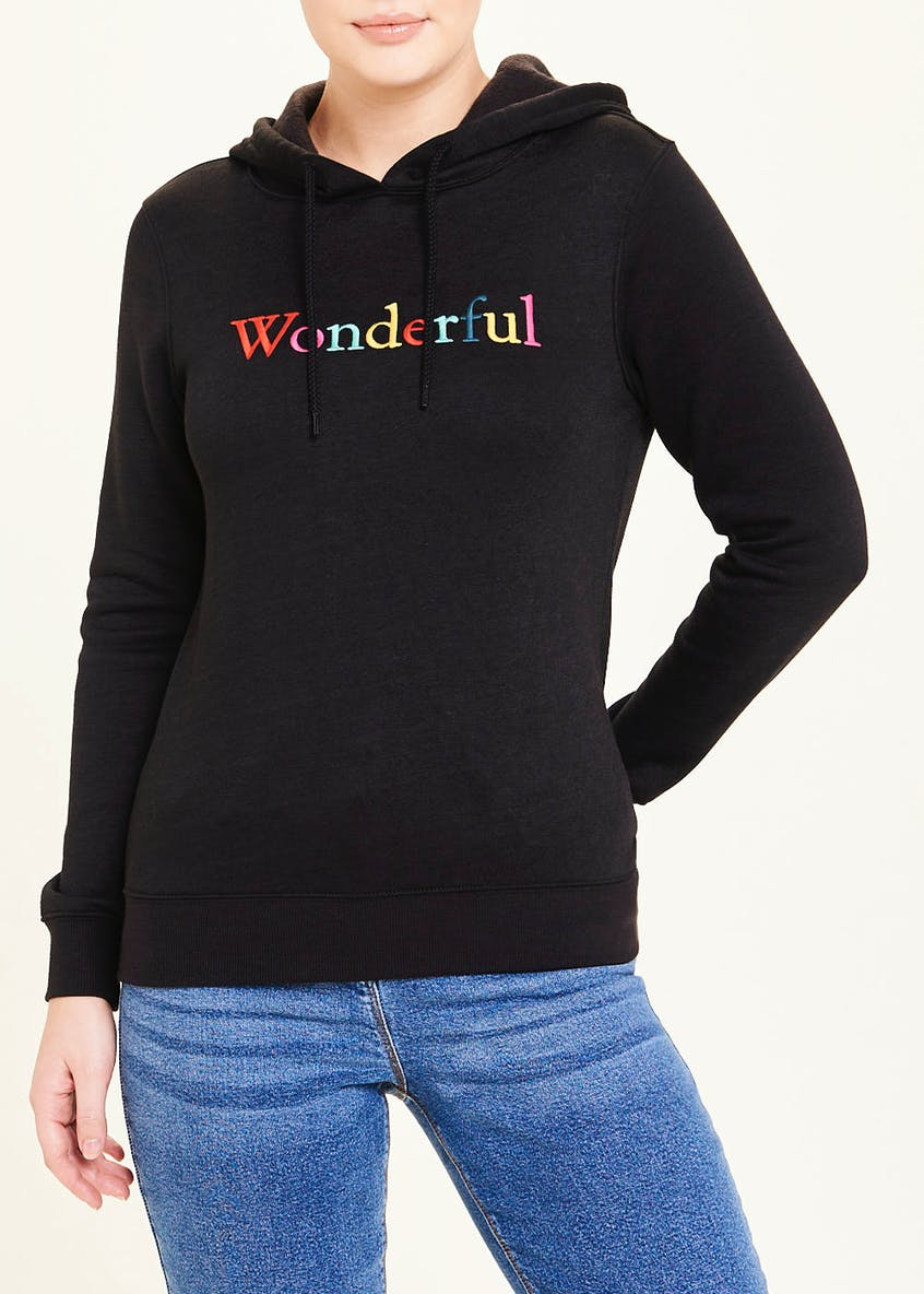 Wonderful Slogan Hoodie