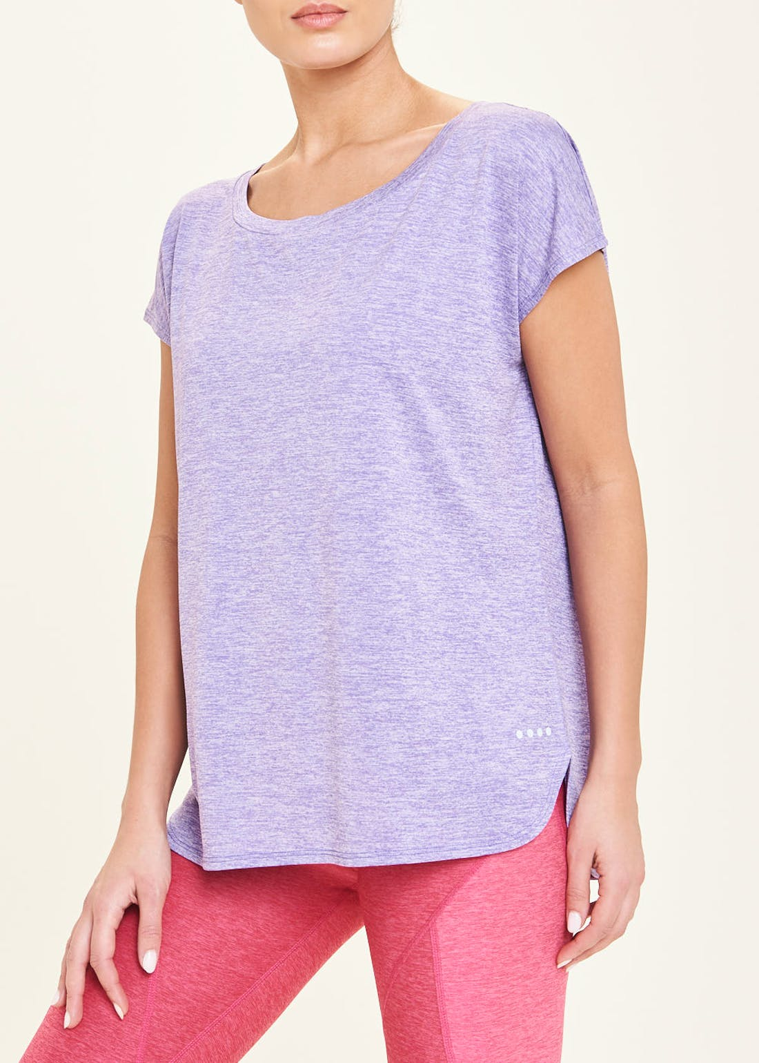 Souluxe Purple Slouch Gym T-Shirt