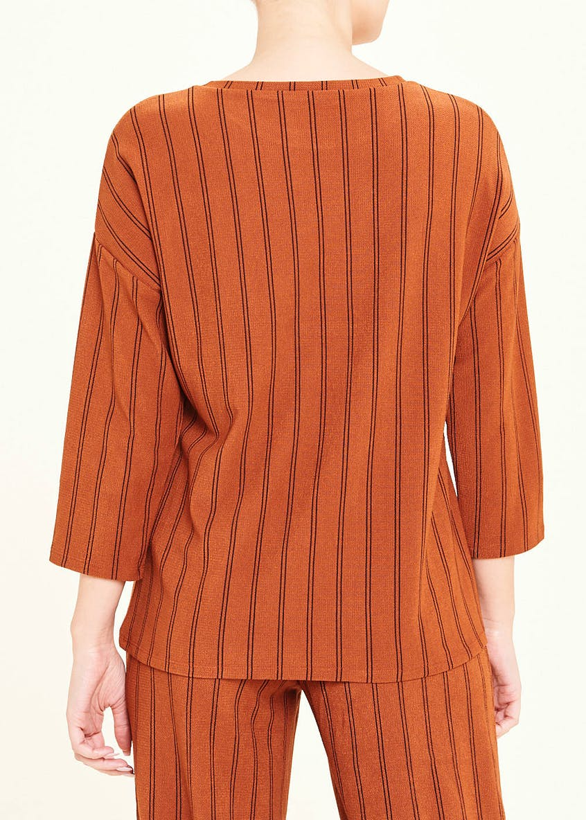 3/4 Sleeve Stripe Co-Ord Top