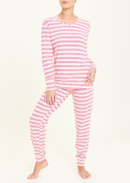 Stripe Jersey Lounge Set