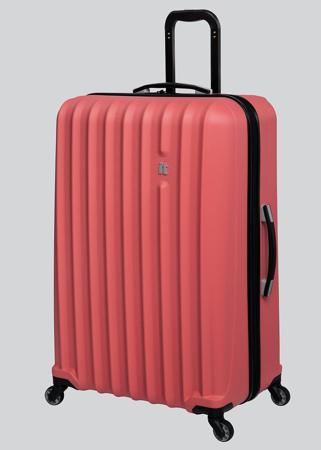 IT Luggage Ribbed Hard Shell Suitcase