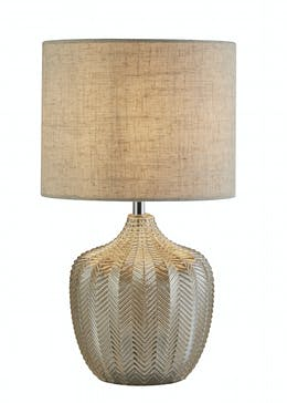 Chevron Glass Table Lamp (H40cm x W22cm)