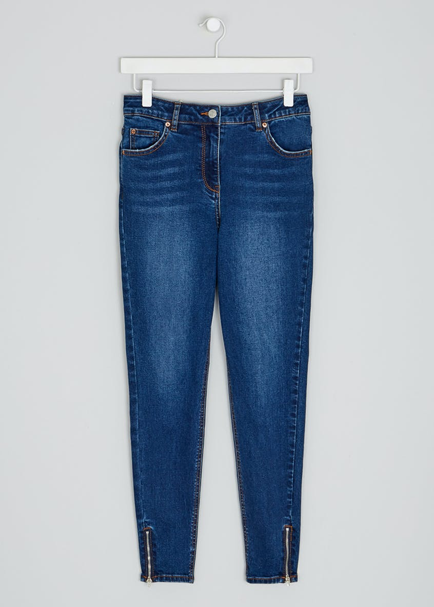 April Zip Hem Skinny Ankle Grazer Jeans