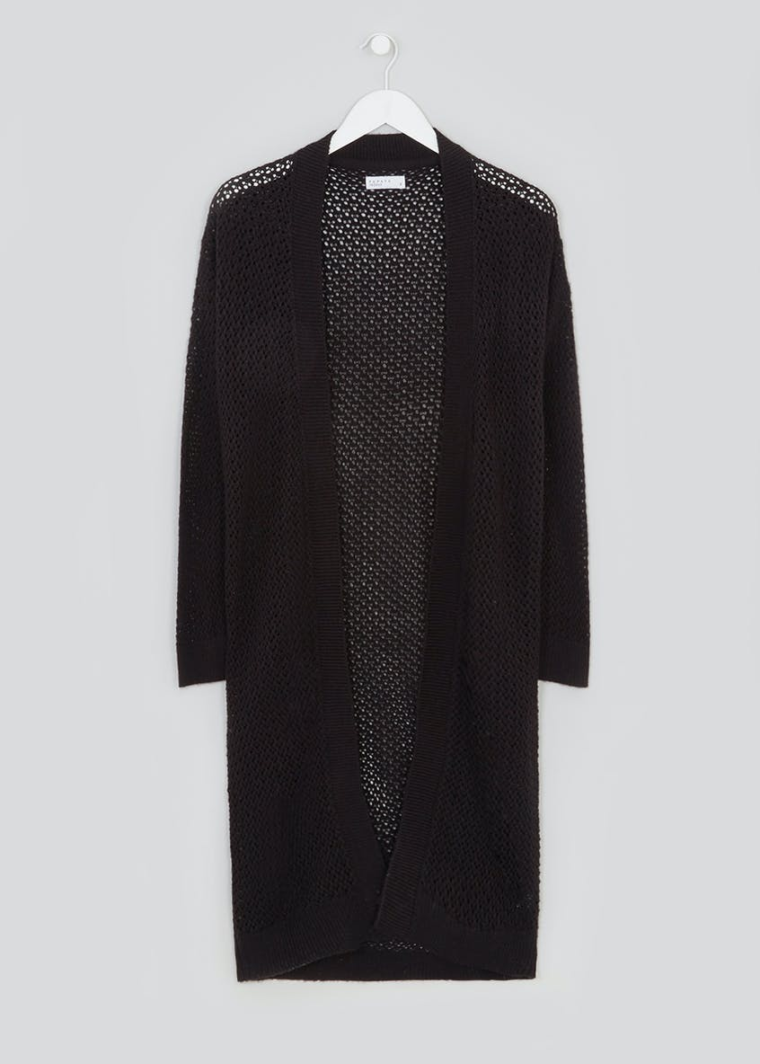Longline Open Stitch Cardigan