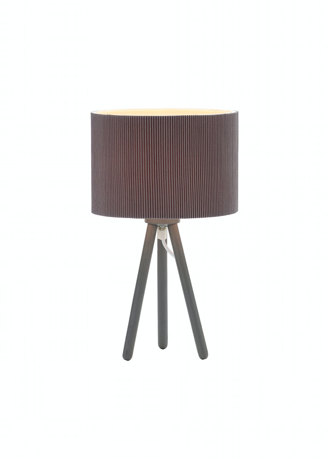 Pleated Shade Tripod Table Lamp (W35 x H20cm)