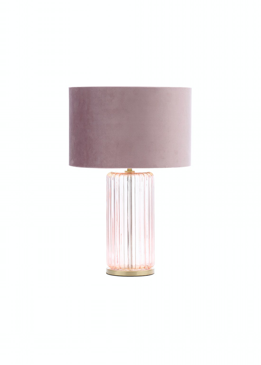 Ribbed Glass Table Lamp (H47cm x W30cm)