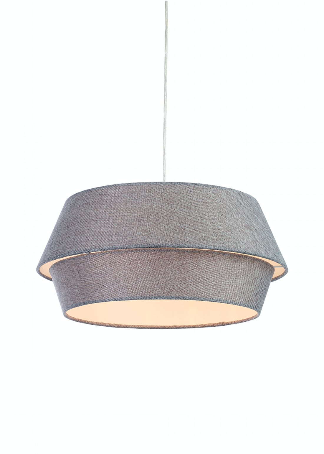 Tiered Linen Easy Fit Shade (W45cm x H20cm)