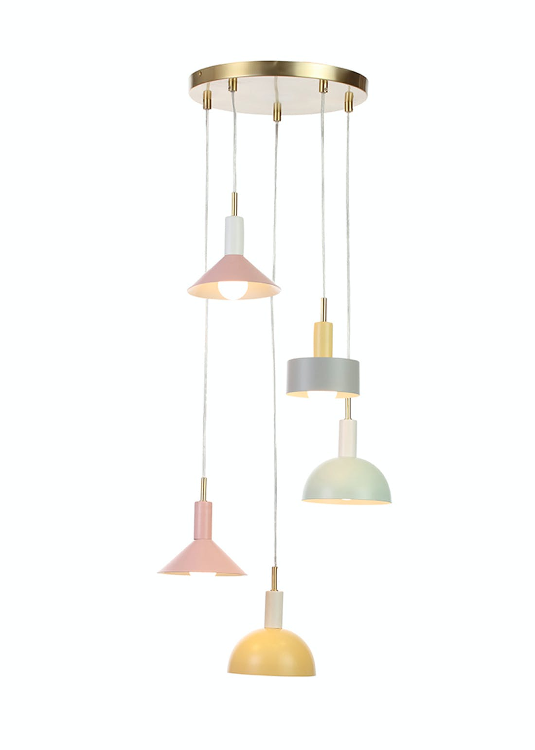 Mixed Pastel Hanging Cluster Light (H100cm x W30cm)