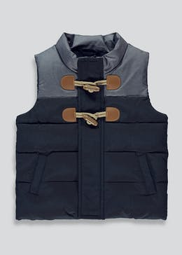 Boys Navy Padded Gilet (9mths-6yrs)