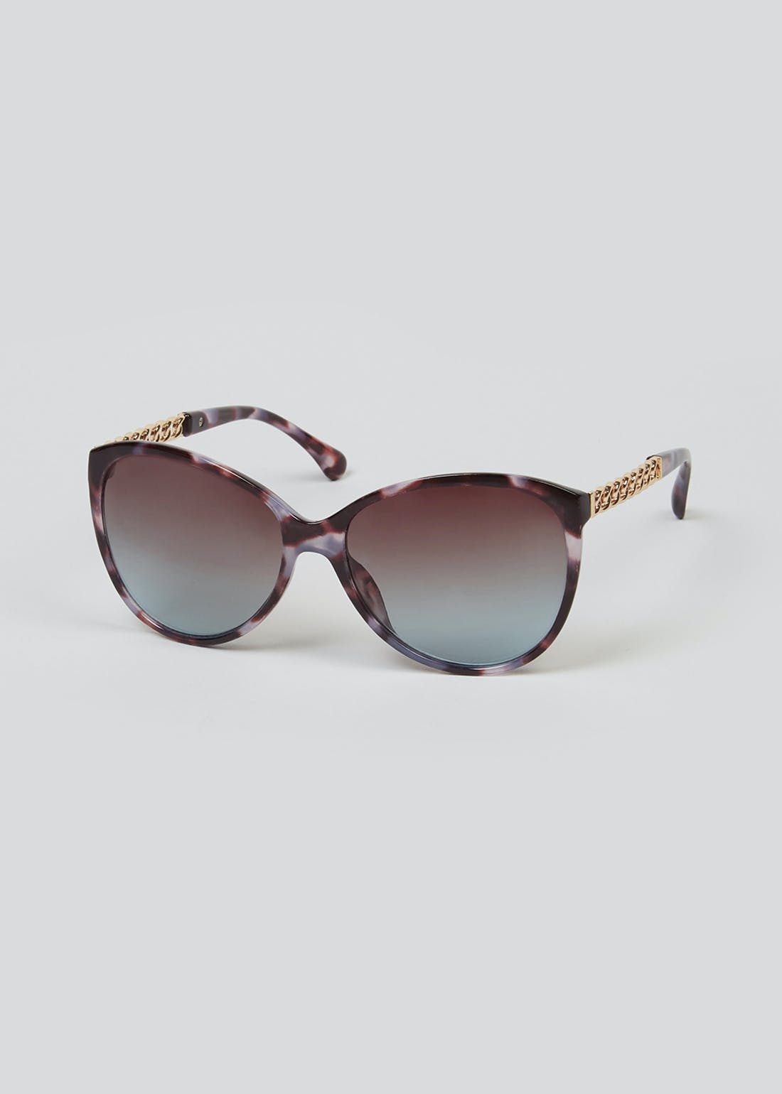 Chain Arm Cat Eye Sunglasses