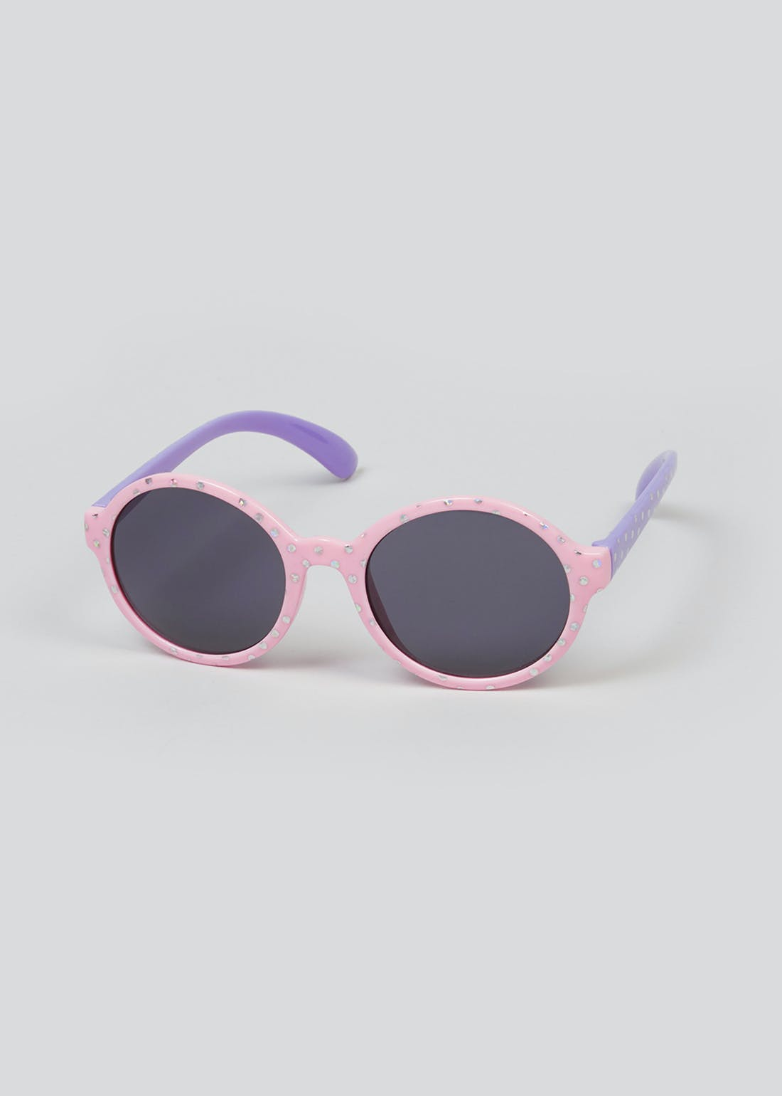 Kids Round Diamante Sunglasses (One Size)