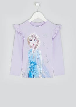 Kids Disney Frozen 2 Long Sleeve Elsa T-Shirt (2-9yrs)
