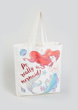 Kids Disney Little Mermaid Canvas Tote Bag