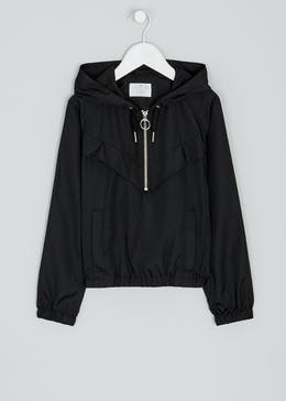 Girls Candy Couture Black Windbreaker Jacket (9-16yrs)