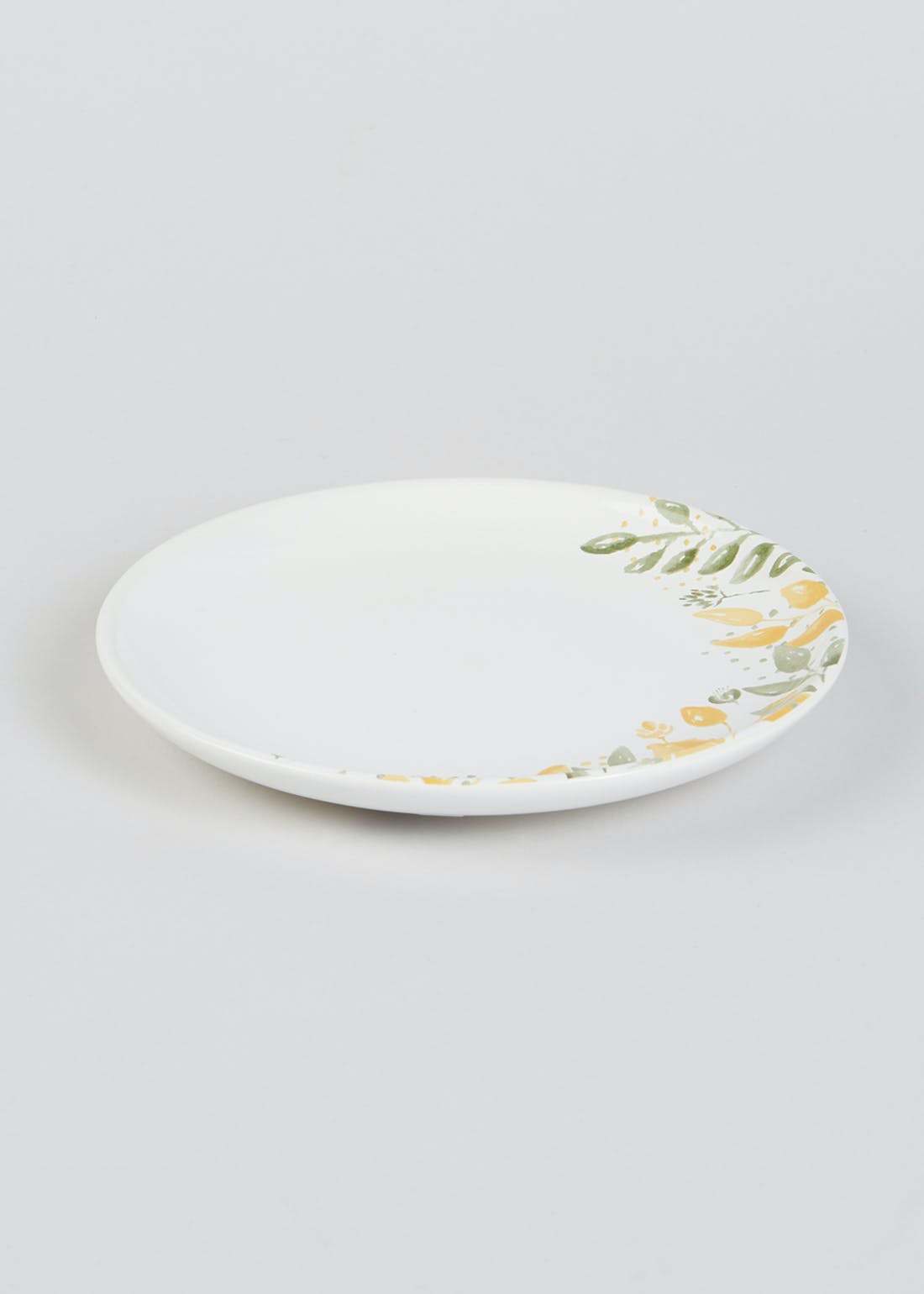 Floral Earthenware Side Plate (19.5cm)