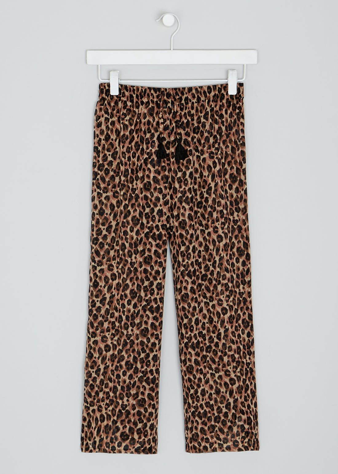 Girls Candy Couture Leopard Print Beach Trousers (9-16yrs)