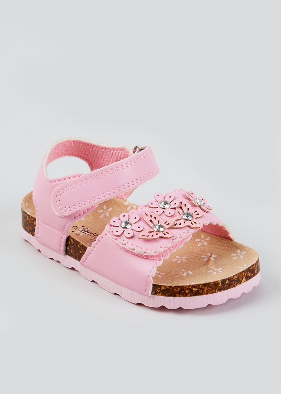 Girls Pink Floral Sandals (Younger 4-12)