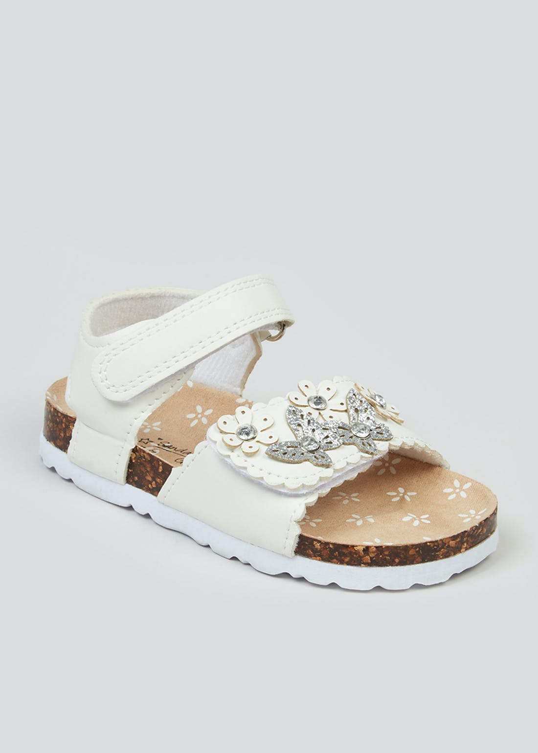 Girls White Floral Sandals (Younger 4-12)
