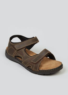 Brown Real Leather Sandals