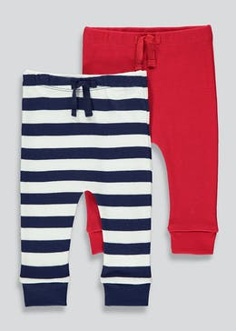 Unisex 2 Pack Jogging Bottoms (Tiny Baby-23mths)