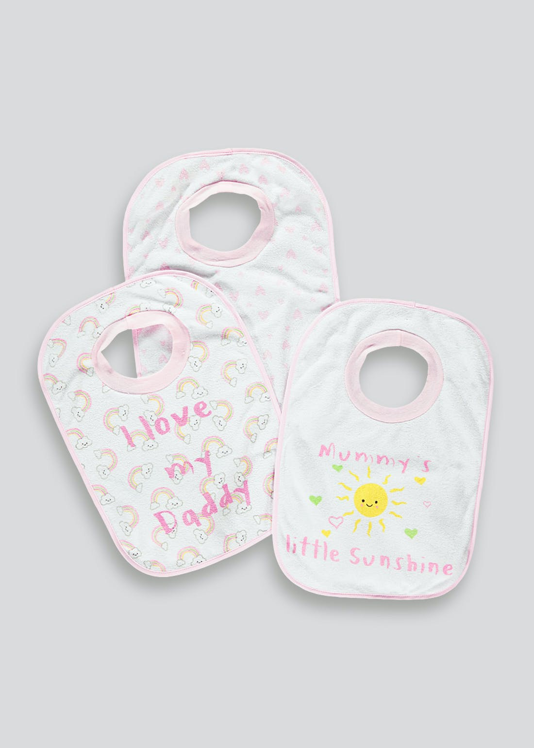 3 Pack Rainbow Popover Bibs (One Size)